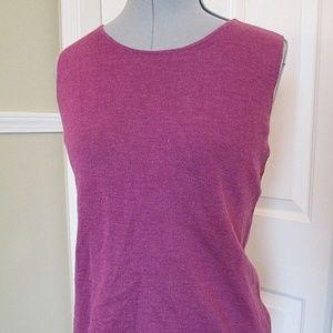 Eileen Fisher Sweater Sleeveless Purple Large